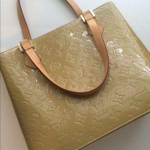 Louis Vuitton Houston Vernis Handbag Tote Purse